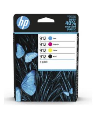 Hp 912 cmyk original ink  4-pack HP Inc 6ZC74AE#301 195122352301 6ZC74AE#301