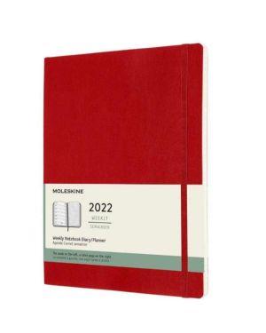Agenda 12m sett noteb p rosso rigid Moleskine DHF212WN2Y22 8056420855760 DHF212WN2Y22
