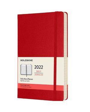 Agenda 12m daily large rosso rigido Moleskine DHF212DC3Y22 8056420855630 DHF212DC3Y22