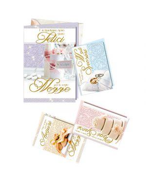 Biglietti nozze perline silhouette in 4 sogg SAEMEC 70812 8009572107058 70812