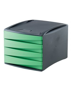 Cassettiera green2desk 4 cassetti cm. 25x28.6x37 verde FELLOWES 19001 0043859654932 19001