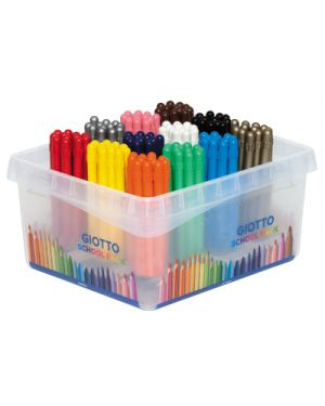 PASTELLI CERA GIOTTO STRONG SCHOOLPACK PZ.144 DA 12X12 COLORI 524800 by Giotto