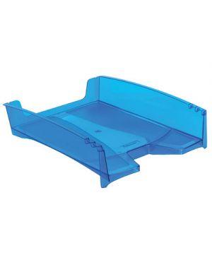 Vaschetta portacorrispondenza green2desk trasparente blu 8601