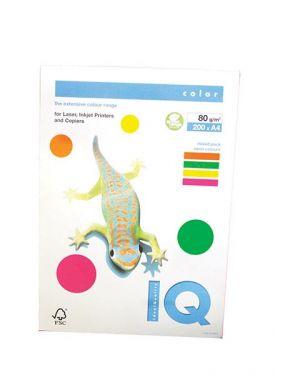 Carta fotocopie colorata neon gr.80 a4 i/q rb04 4 colori fg.200 180044491