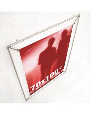 Appendiposter in alluminio con clip posterstretch 70x100 STUDIO T 1100195 8033162462173 1100195