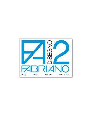 CARTELLA DISEGNO FA2 24X33 FG.20 LISCIO 6200516 by Fabriano