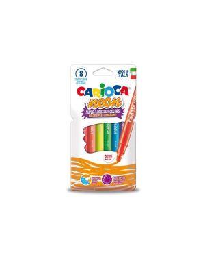 Pennarello carioca neon pz.8 CARIOCA 42785 8003511427856 42785 by No