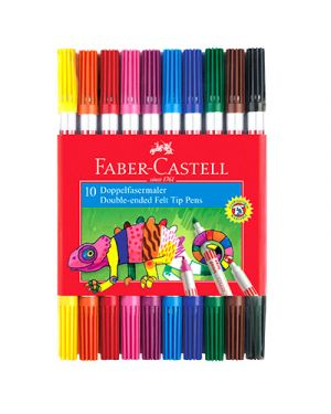 Pennarelli doppia punta faber pz.10 FABER CASTELL 151110 4005401511106 151110 by No