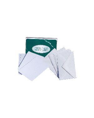 Biglietti e buste formato 9  pz.10/10 cm.9x14 40910