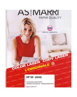 Poliestere bimattato xp.03 mm.0,09 a4 fg.100 marri 2543 AS MARRI 2543 8023927025439 2543 by As Marri