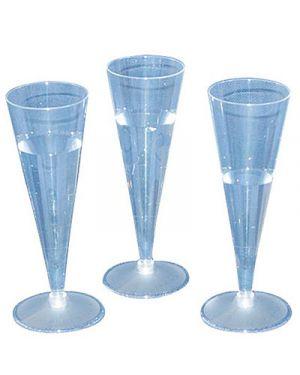 Bicchieri plastica trasparente flutes 110cc pz.20 DOPLA 2884 8008650029084 2884