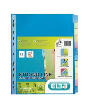 Intercalare in cartoncino colorato rinforzato strong line 12 tasti a4 ELBA 400019789 3045050113253 400019789 by Elba