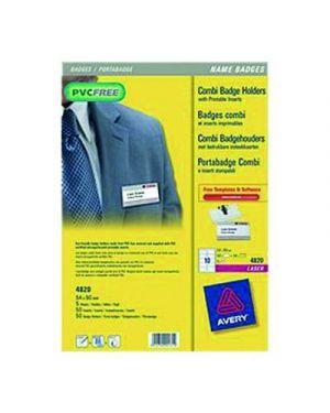 PORTANOME C/CLIP 54X90 PZ.50 PVC FREE 4820