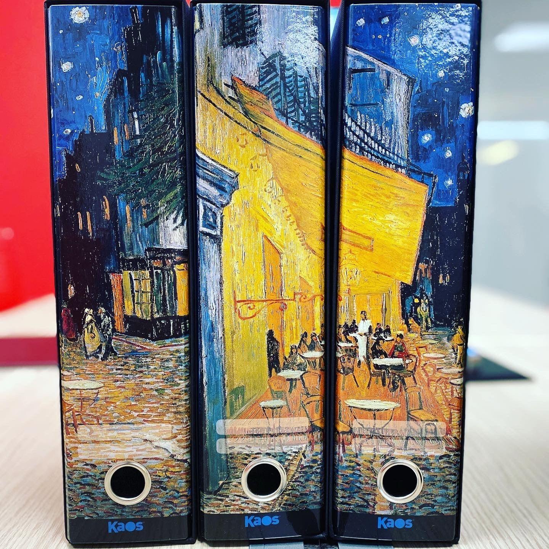 Kaos Raccoglitore D.8  Set 3pz Girasoli Gialli Van Gogh