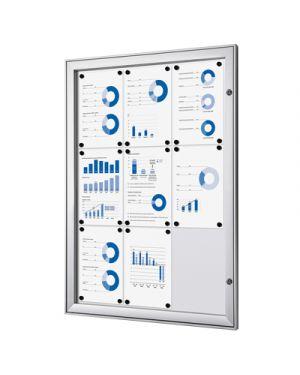 Bacheca in alluminio interno - esterno 9 fogli a4 STUDIO T 1303011 8033162461480 1303011