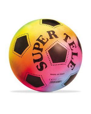 Pallone in gomma super tele diametro 23 cm fluorescente MONDO 4200 8001011042005 4200 by No