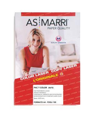 Poliestere laser a4 adesivo trasparente permanente 100fg marri 672 8023927006728 672