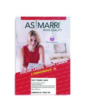 Film trasparente lucido adesivo mm.0,07 a4 fg.100 pact marri 0672 AS MARRI 672 8023927006728 672 by As Marri