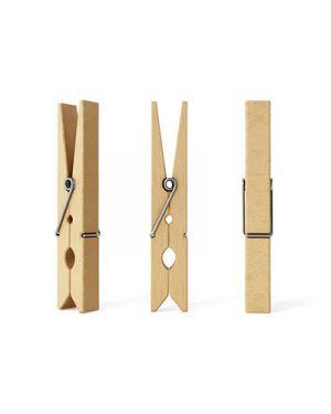 Mollette in legno mm.45x7 pz.50 col. naturale CWR 11688 8004957116885 11688 by Cwr