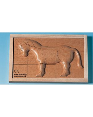 Puzzle in legno rilievo cavallo BELEDUC 30238 4014888302381 30238 by No