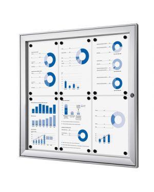 Bacheca in alluminio interno - esterno 6 fogli a4 STUDIO T 1303040 8033162461343 1303040