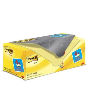 Post-it 654 76x76 giallo canary pz.16+4 omaggio POST-IT 81563 4046719906437 81563 by Post-it