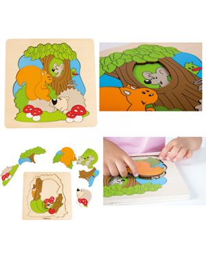 Puzzle in legno discovery foresta BELEDUC 17510 4014888175107 17510 by No