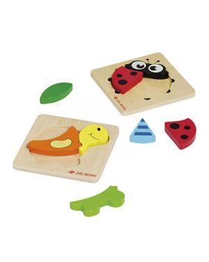 Baby puzzle in legno tartaruga e coccinela DAL NEGRO 53807 8001097538072 53807 by No
