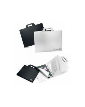 Cartella porta disegni con manico cristallart book f2 cm.40x52 bianco RI.PLAST 63355001 8004428032607 63355001