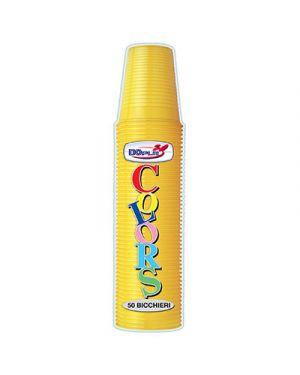 Bicchieri plastica colorata  200cc pz.50 giallo DOPLA 2459 8008650295175 2459 by Dopla