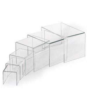 Supporto in acrilico per vetrina cm.8x8x8 LEBEZ 80407 8007509071625 80407