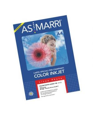 Carta color photo lucida gr.150 a4 fg.50 marri 8298 AS MARRI 8298 8023927082982 8298