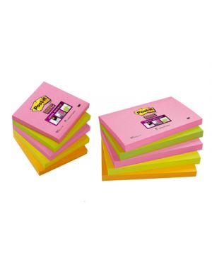 Post it 654s 76x76 super sticky neon 5 colori 86378