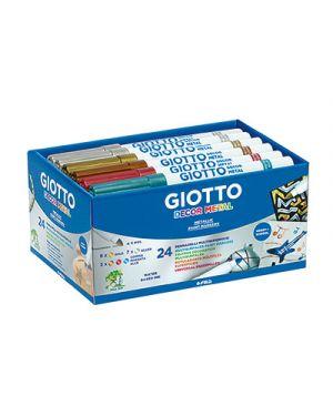 Pennarelli giotto decor metal schoolpack pz.24 da 5 colori assortiti GIOTTO 524500 8000825524509 524500