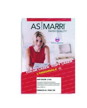 Film argento metallizzato adesivo aap mm.0,08 a4 fg.100 marri 1133 AS MARRI 1133 8023927011333 1133