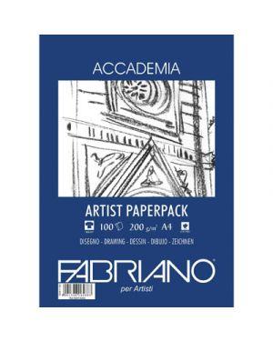 Blocco fabriano accademia artist fg.100 gr.200 a4 50814200