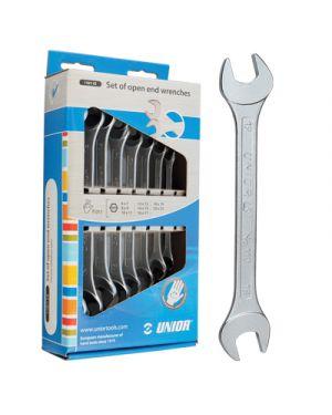 Chiave a forchetta in acciaio pz.8 mm.6 22 in scatola di cartone 602844