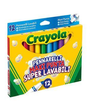 Pennarelli fibra crayola maxipunta lavabile 12 CRAYOLA 8330 5010065081703 8330 by No