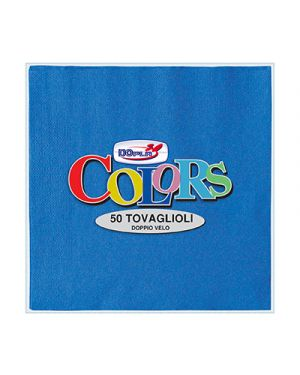 Tovaglioli pura cellulosa 2 veli 33x33 pz.50 blu DOPLA 18304 8008650180990 18304