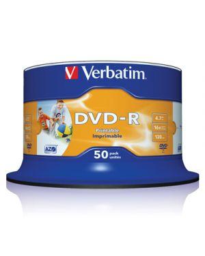 Dvd r 16x verbatim printable 4.7 gb campana pz.50 43577