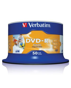 DVD-R 16X VERBATIM PRINTABLE 4.7 GB CAMPANA PZ.50 43577