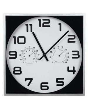 Orologio da parete alluminio cm.28 temperatura e pressione 60204