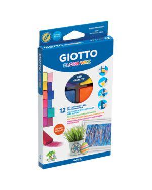 Pastelli cera giotto decor wax rettangolari pz.12 GIOTTO 442000 8000825442001 442000 by Giotto
