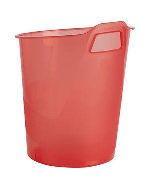 Cestino gettacarte green2desk trasparente rosso FELLOWES 9501 0043859654864 9501 by Fellowes