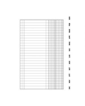 Scadenziario gennaio/dicembre flex c/spirale 4 pagine per mese 15,5x21 134620000
