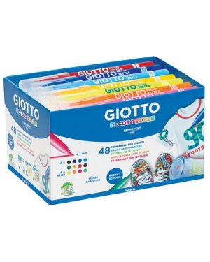 PENNARELLI GIOTTO DECOR TEXTILE SCHOOLPACK PZ.48 DA 4X12 COLORI 494700 by Giotto