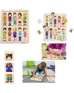 "Puzzle match & mix ""kids&#34 BELEDUC 11130 4014888111303 11130 by No"