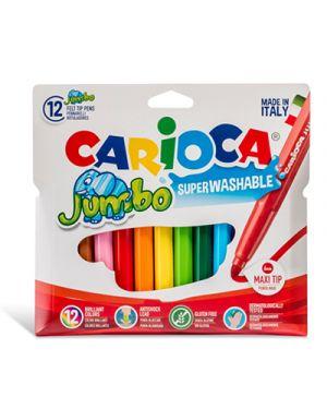 Pennarelli carioca top jumbo 12 lavabile CARIOCA 40565 8003511410100 40565 by No