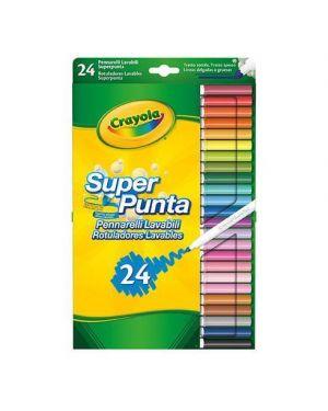 Pennarelli fibra crayola punta fine lavabili pz.24 CRAYOLA 7551 5010065075511 7551