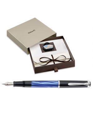Stilo pelikan marmorizzata blu m200 pennino m 984195